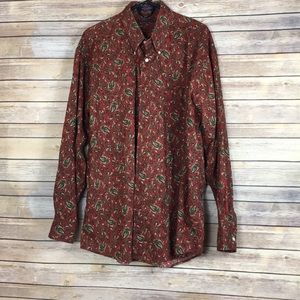 Alan Flusser Paisley Button Down